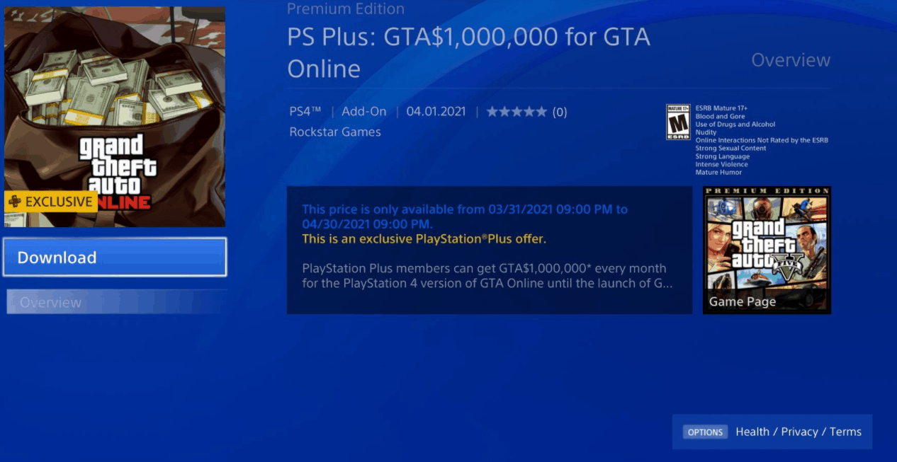 playstation-plus-users-can-get-gta$-1,000,000-cost-free-each-month